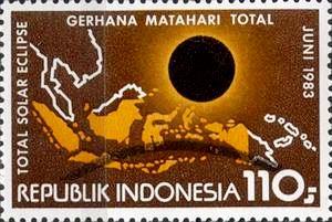 Perangko khusus edisi Gerhana Matahari Total 1983 (sumber: Google)