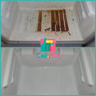 колаж: холодильник