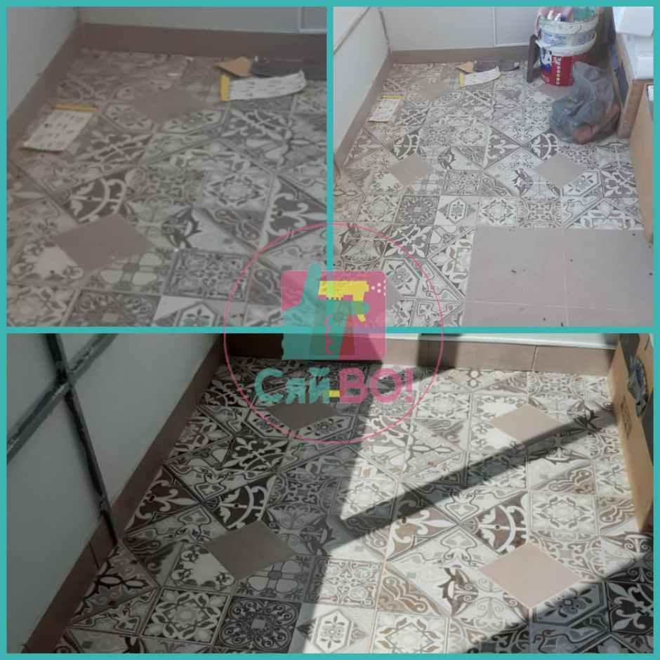 Прибирання підлоги після ремонту