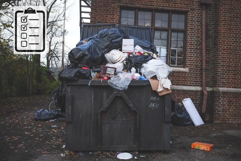 Чек-лист прибирання, вивезення та утилізації домашнього (побутового) сміття