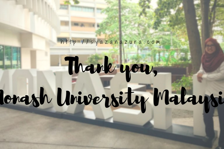 Thank you Monash University Malaysia