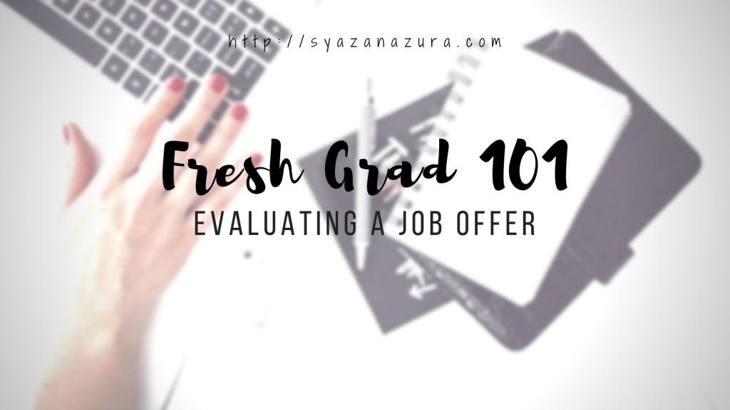 evaluating a job offer