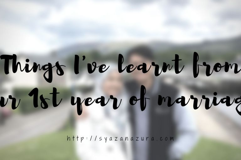 things I've learnt in our first year of marriage