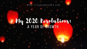 my 2020 resolutions