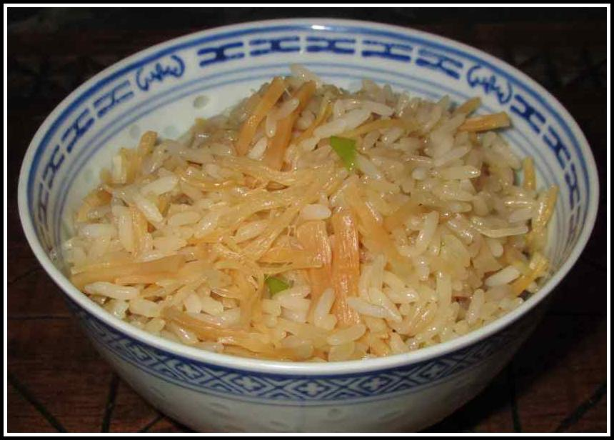 A dish of Rice with Conpoy