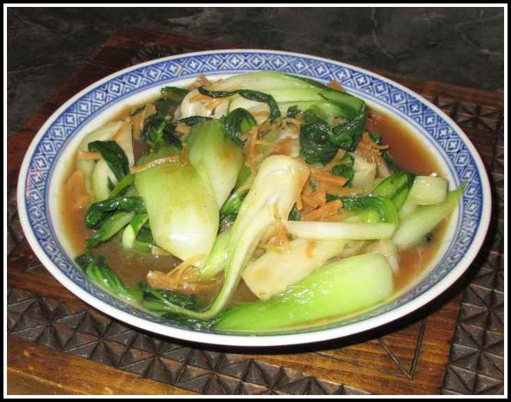 Bok Choy with Dried Scallops