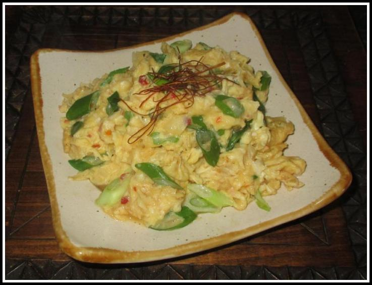 Eggs stir-fried with Conpoy