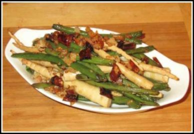 Dry-fried Beans and Bamboo Shoots