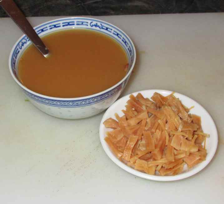 Shredded Dried Scallops with Stir-Frying Sauce