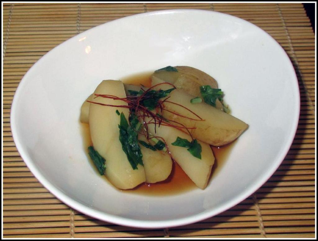 Mizuna Potato Nimono