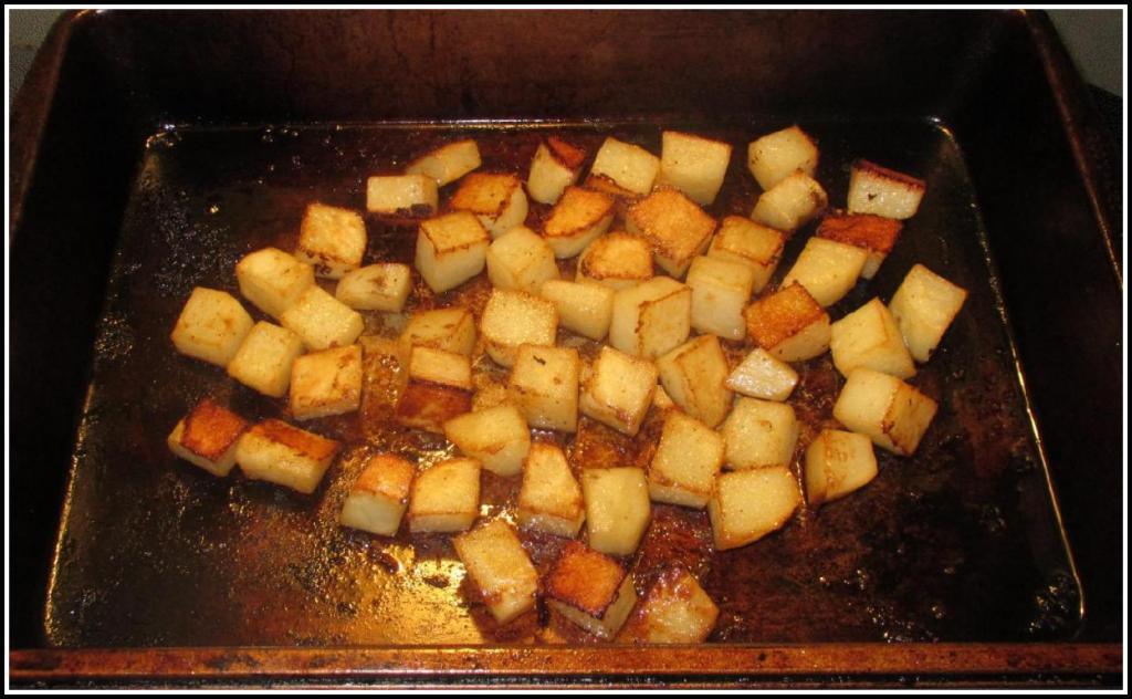 Roasting the Spiced Potatoes