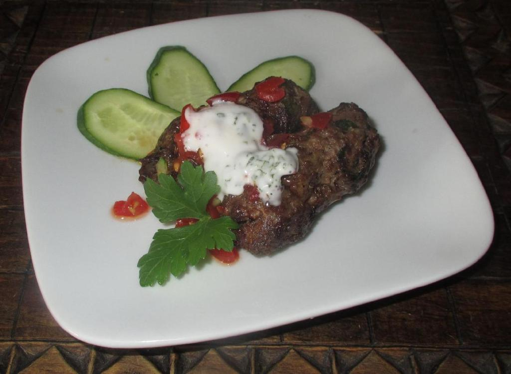 Tzatziki on Grilled Meat