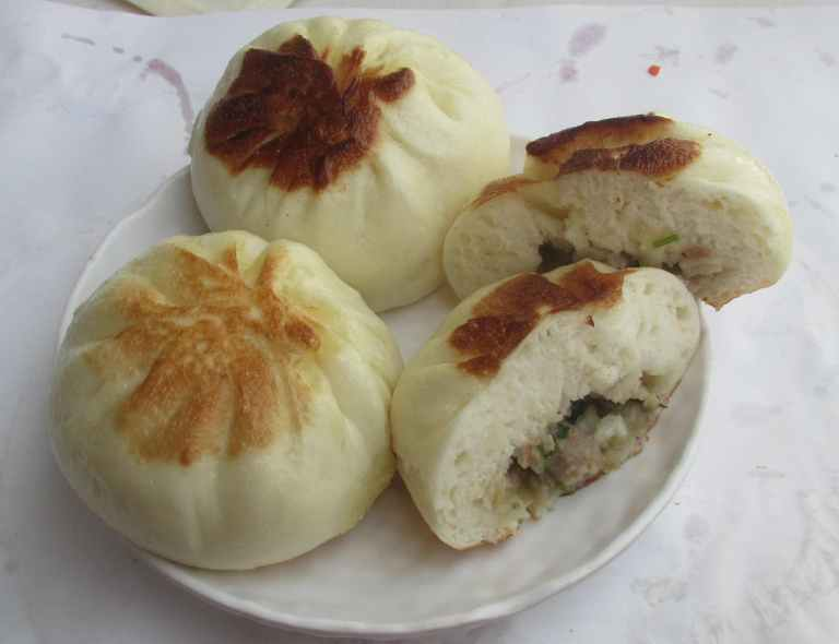 Abalone and Meat Buns in A Dim Sum Restaurant
