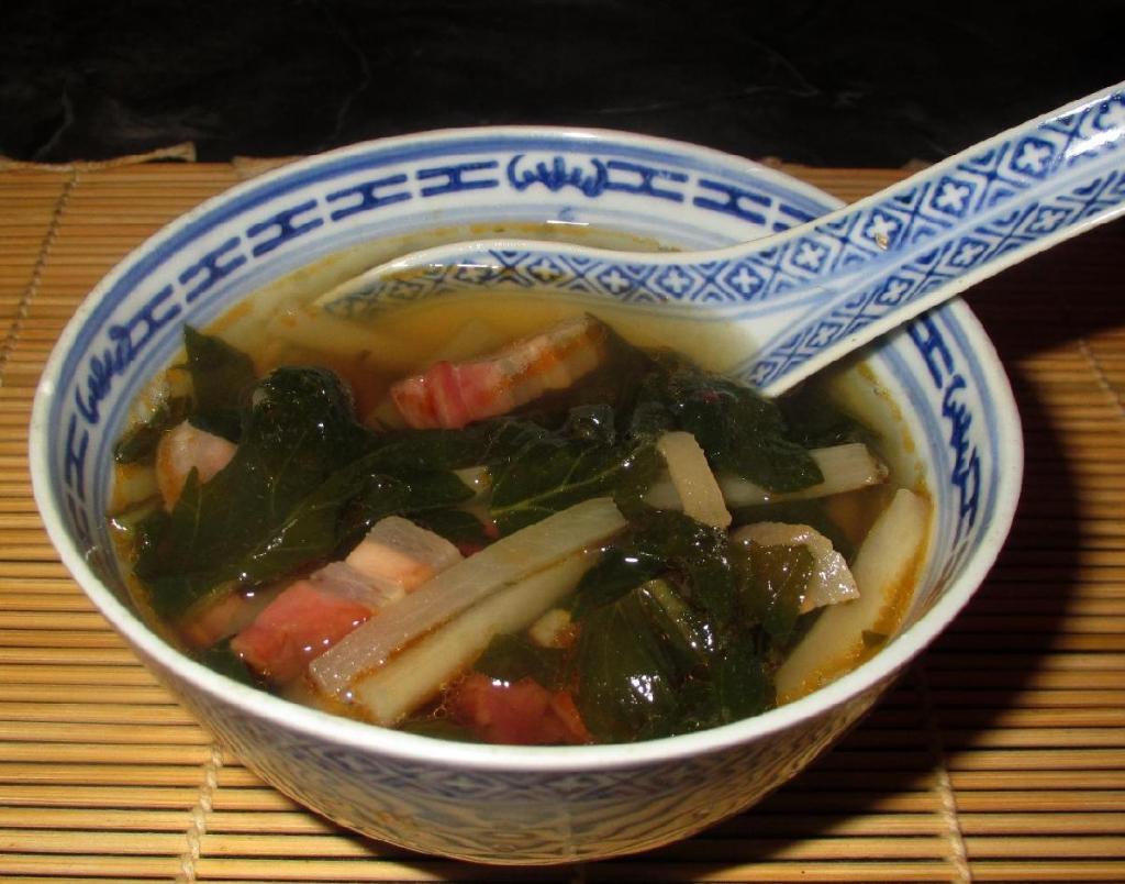 Preserved Pork Belly and Daikon Soup