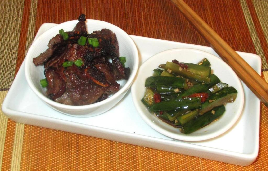 Ribs with Sichuan Style Dressed Cucumber