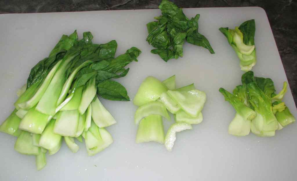 Blanched Bok Choy