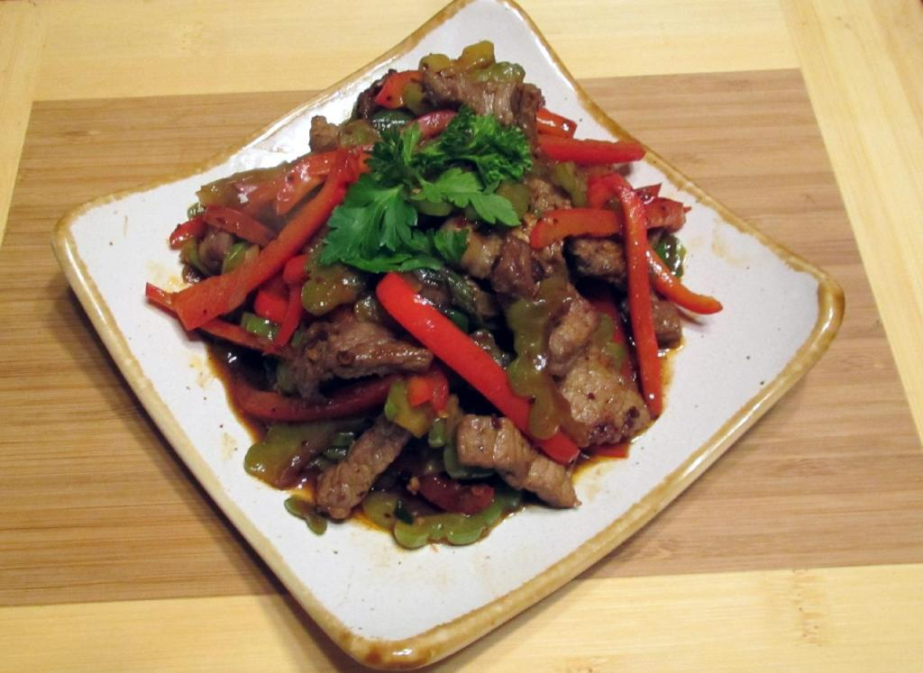Beef with Bitter Melon in Chili Black Bean Sauce