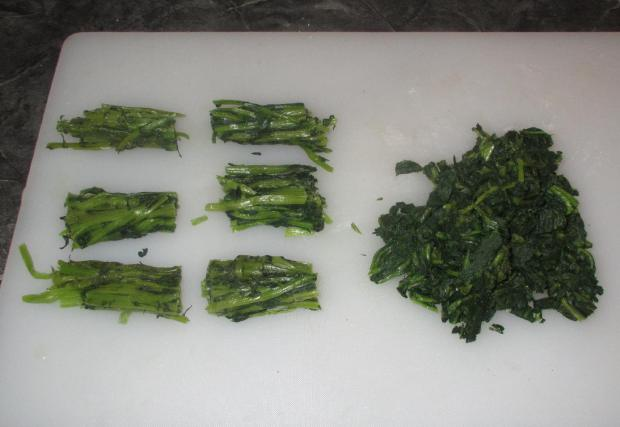 Blanched and Macerated Daikon Greens