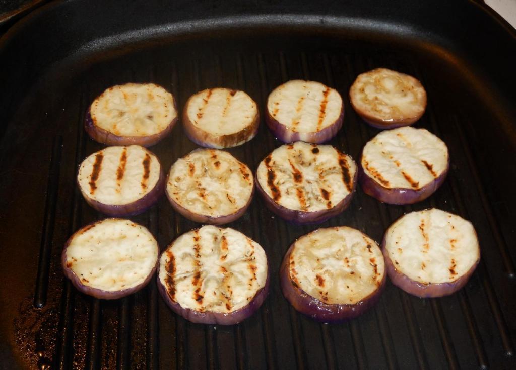Grilling Eggplant Slices
