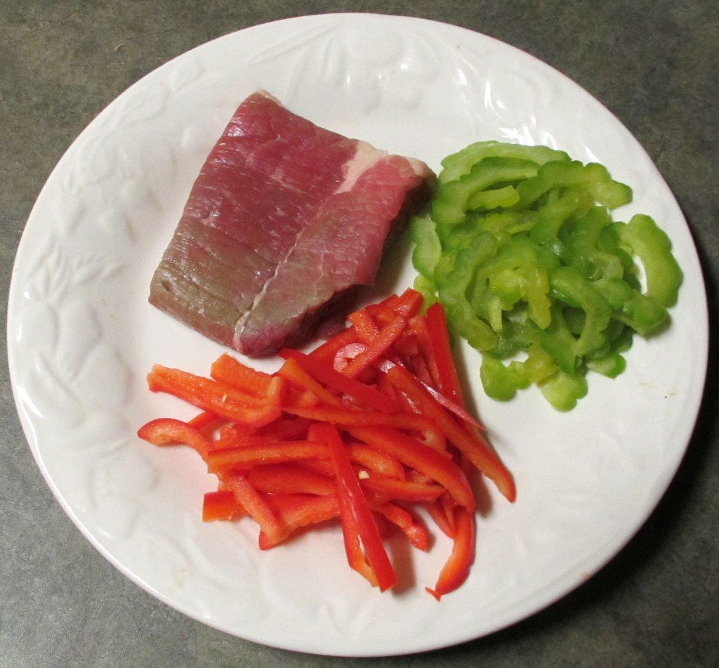 Beef, Bitter Melon and Red Bell Pepper