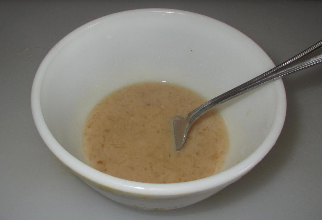 The Sauce Mixture for Chicken with Button Mushrooms