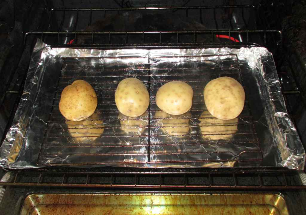 Pre-Baking Potatoes for making Patties.
