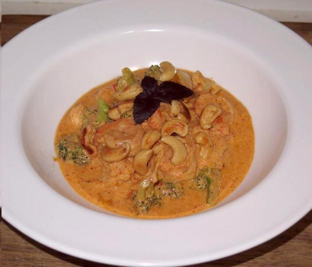 A Panang Curry of Shrimp and Vegetable