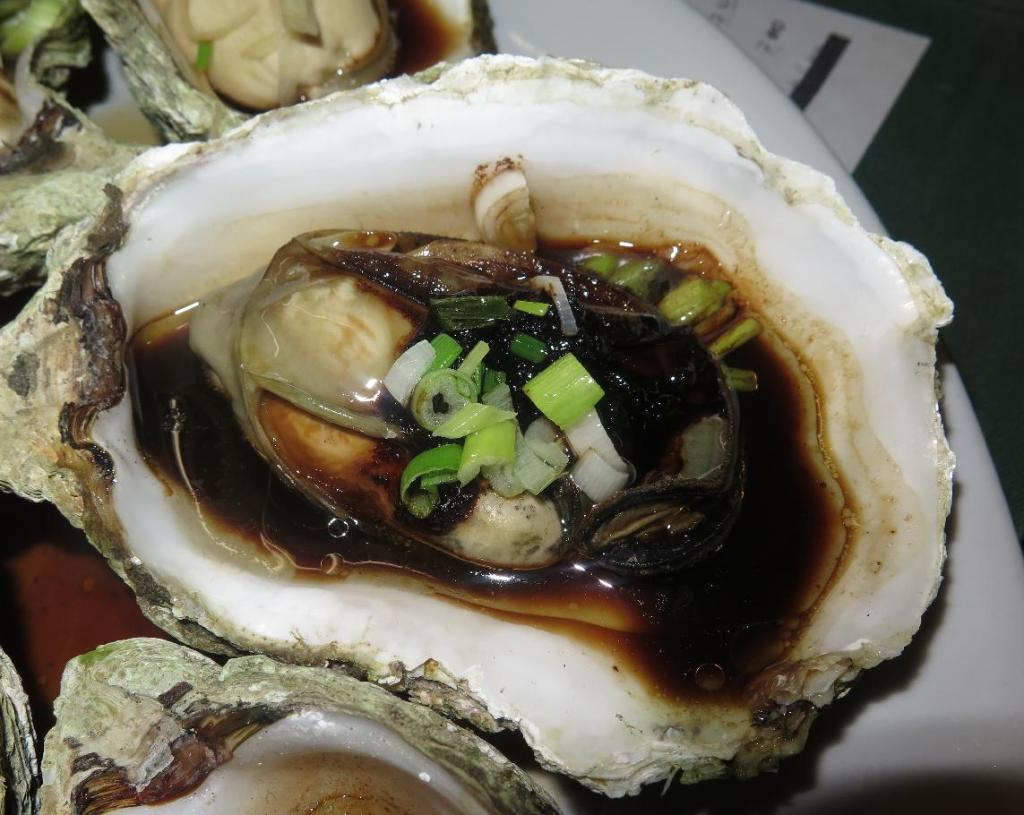 Oysters Steamed with Salted Black Beans