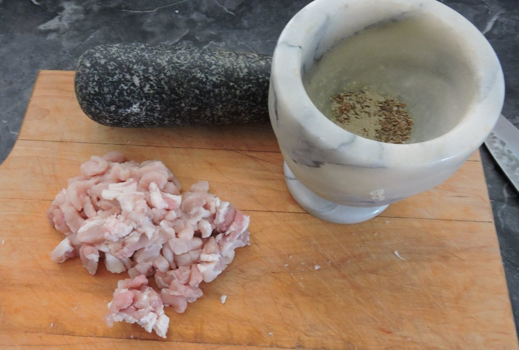 Diced Pork for Pepper Stuffing