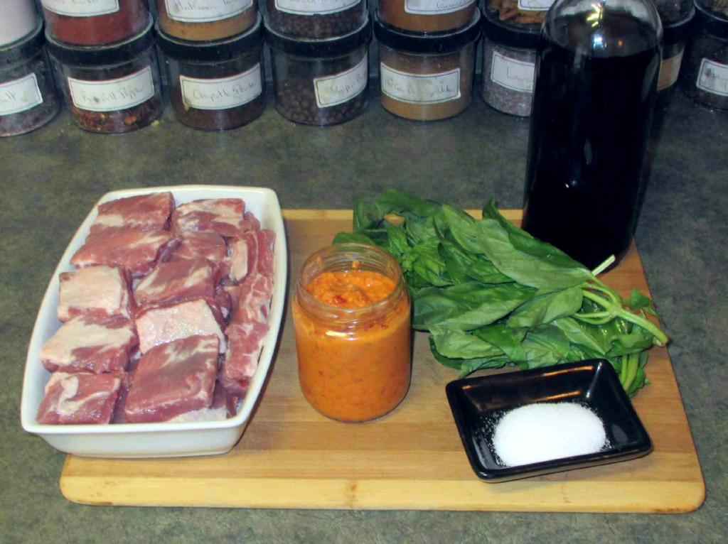 The Ingredients for Galingale Curry Ribs