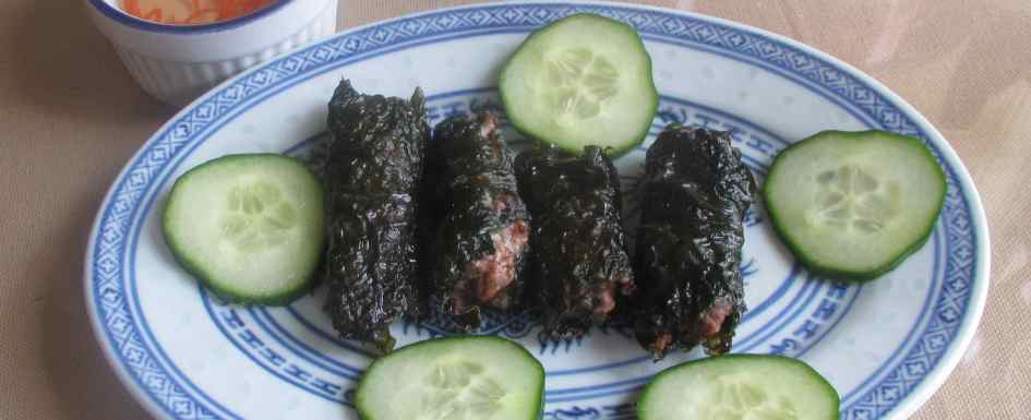 Pork Stuffed Betel Leaves at Wei's Noodle House in Ottawa