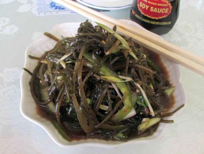 Seaweed Salad with Garlic at the Harmony Restaurant in Ottawa