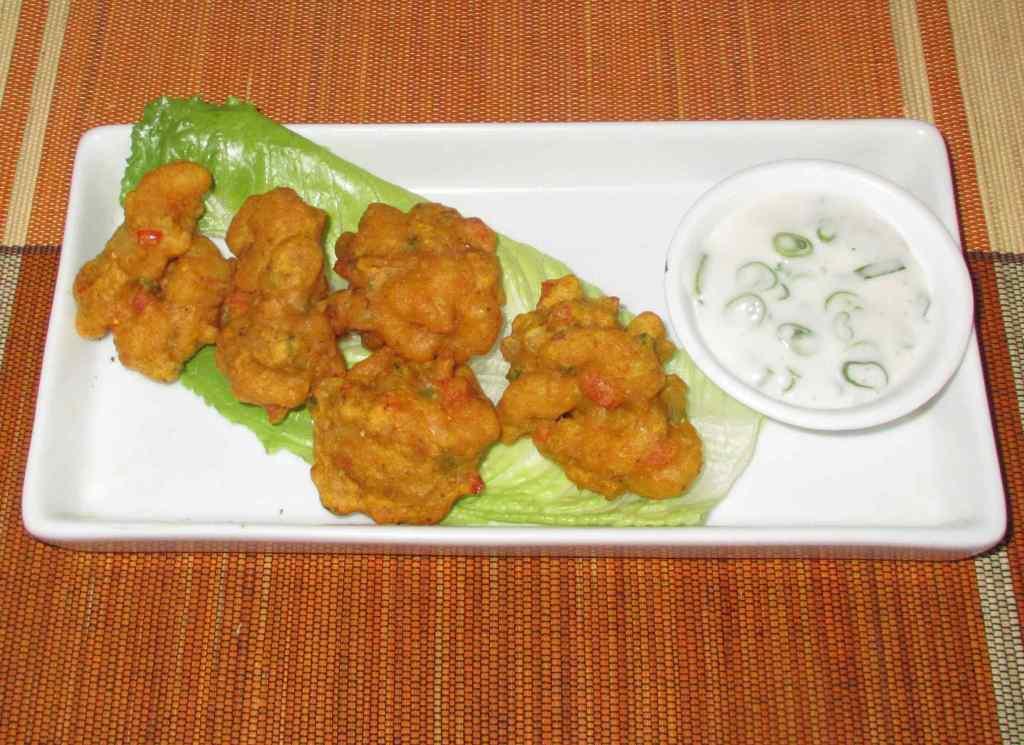 Shrimp Bhaji with Dipping Sauce
