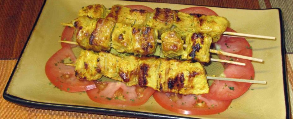 Yoghurt Marinated Pork Kebabs