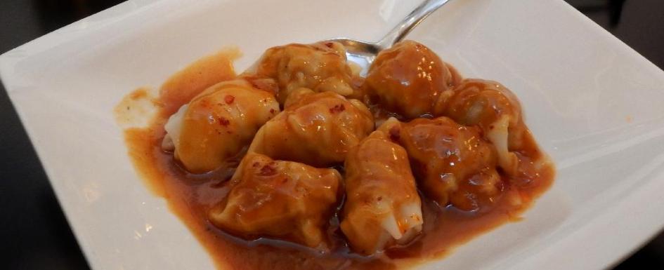 Boiled Dumplings at the Oriental House Restaurant in Ottawa