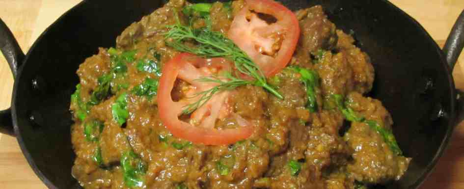 Lamb Curry with Fresh Fenugreek