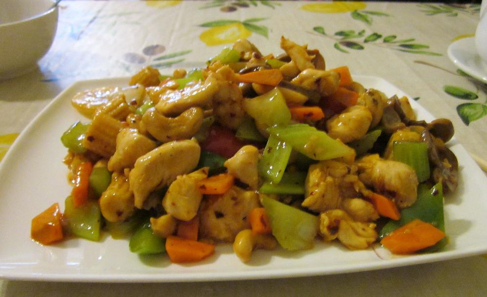 Kung Pao Chicken at the Three Kings Restaurant in Ottawa