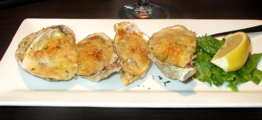 Oysters Rockefeller at MacKelvie's Restaurant in Halifax