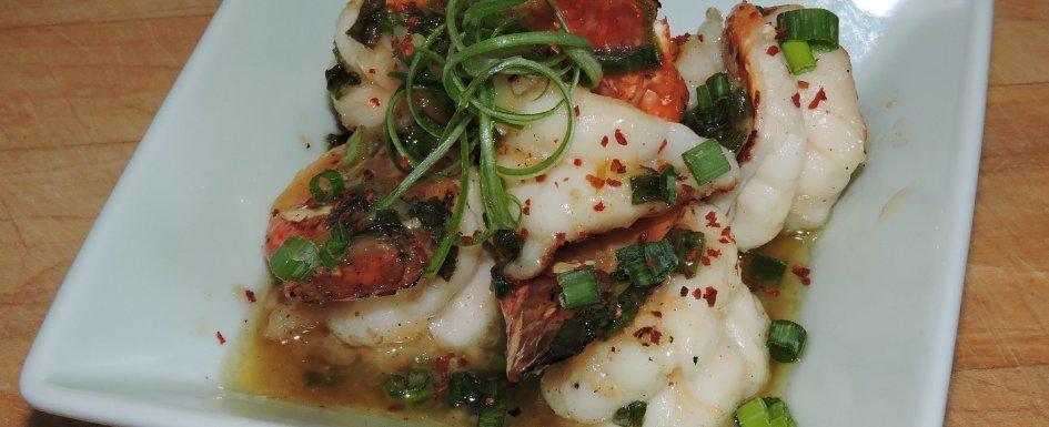 Shrimp Flambéed with Ouzo