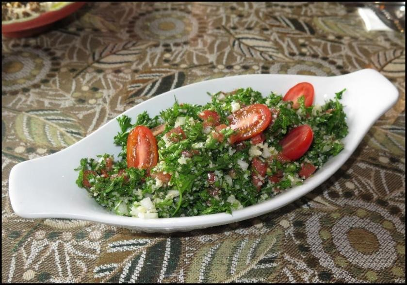 Taboula at the Chef Abod Restaurant in Halifax