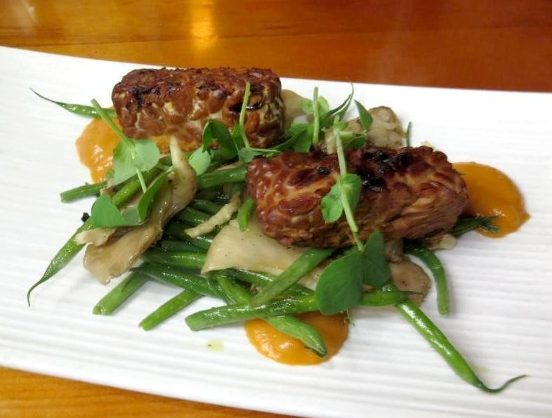 Tempeh Grilled at Play, Food & Wine in Ottawa