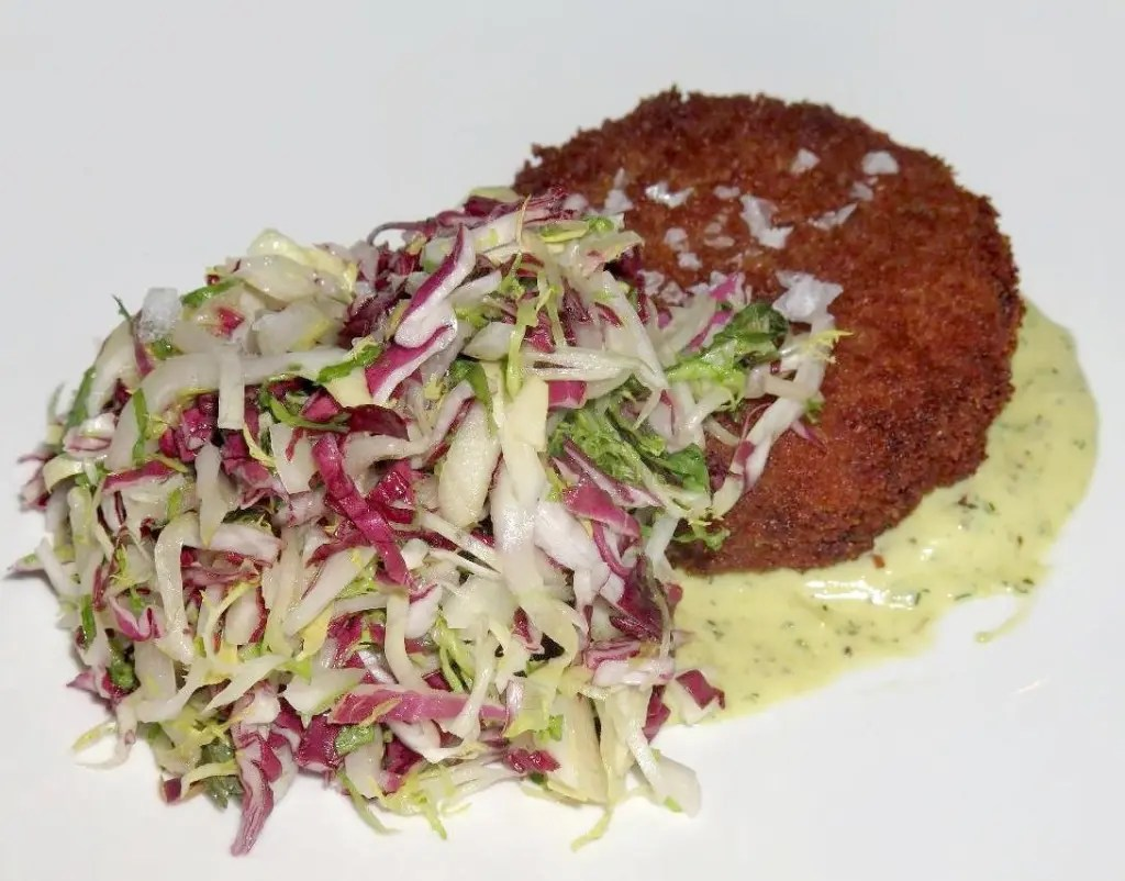 Crab Cake at Restaurant E18teen in Ottawa
