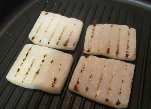 Grilling Jicama Slices