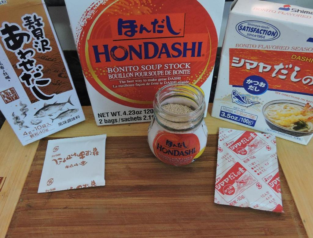 Inside Packages of Instant Dashi