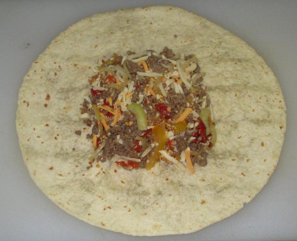 Murtadilla filling on a Tortilla