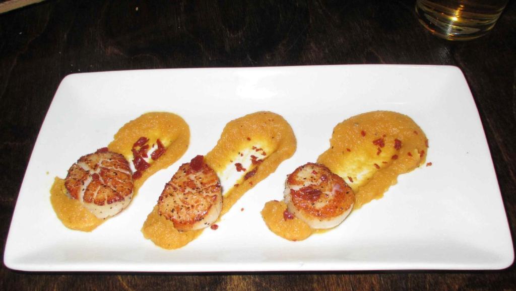 Scallops Seared at the Must Wine Bar in Ottawa