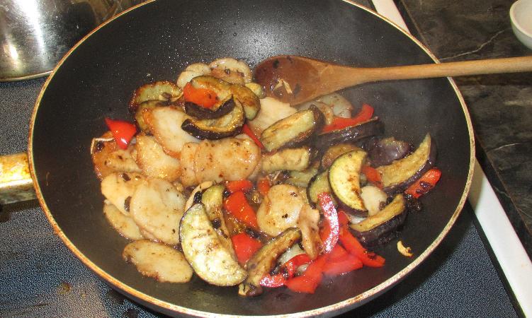 Finishing Scallops with Black Bean Sauce