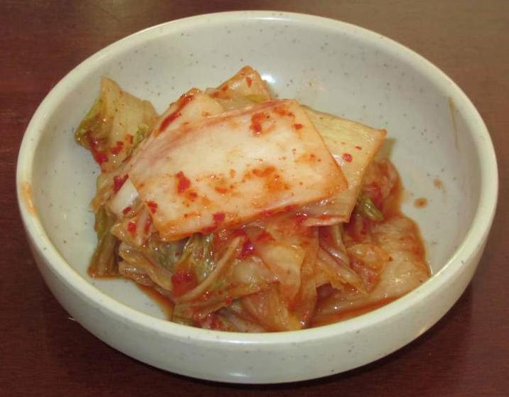 Kimchi Banchan at the Koreana Restaurant in Ottawa