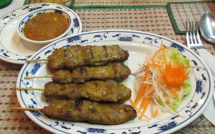 Satay Pork at the Bangkok Thai Garden Restaurant in Ottawa