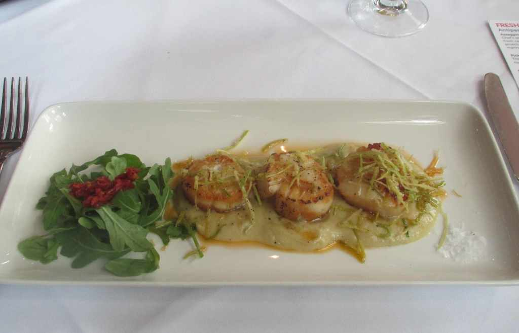 Scallops Grilled at Sorrentino's Italian Restaurant in Edmonton